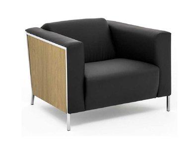 Кресло кожаное Vispo Wood (Дуб Флоре) от дизайнерской студии Profoffice