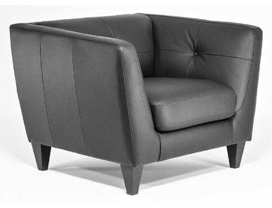 Кресло Volta черная кожа от дизайнерской студии Profoffice