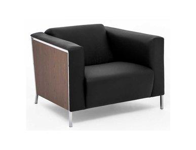 Кресло кожаное Vispo Wood (Орех Мароне) от дизайнерской студии Profoffice