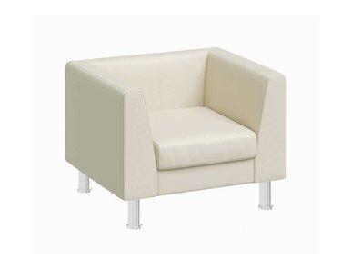 Кресло Eva бежевая кожа от дизайнерской студии Profoffice