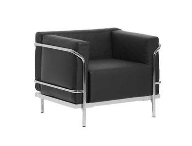 Кресло Mykonos черная кожа от дизайнерской студии Profoffice