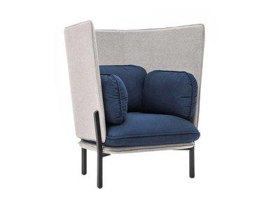 Кресло Bellagio высокая спинка серо-синий от дизайнерской студии Profoffice
