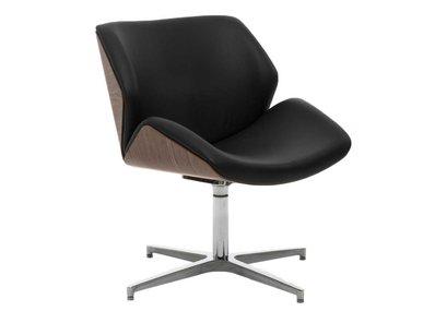 Кресло для переговорных Charm Wood Lounge черное/орех от дизайнерской студии Profoffice