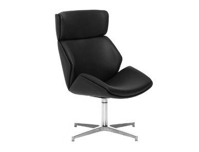 Кресло для переговорных Charm High Lounge черное от дизайнерской студии Profoffice
