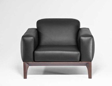 Кресло Fiotto черная кожа от дизайнерской студии Profoffice