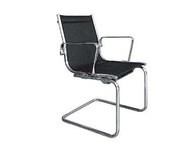 Кресло Luxy LIGHT MESH C на полозьях черное фабрики Luxy