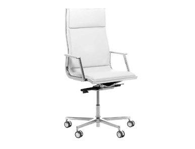 Кресло Luxy NULITE-PAD A белое кожаное фабрики Luxy