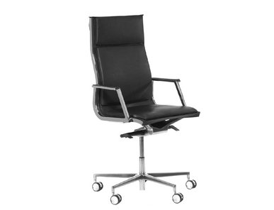 Кресло Luxy NULITE-PAD A черное кожаное фабрики Luxy