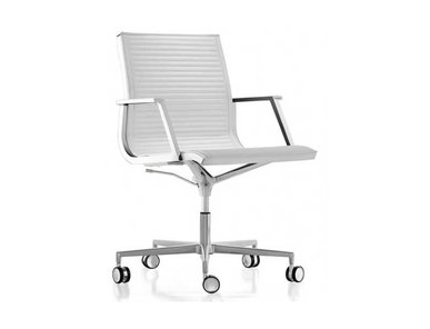 Кресло Luxy NULITE B белое кожаное фабрики Luxy