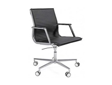 Кресло Luxy NULITE B черное кожаное (хром) фабрики Luxy