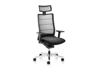 Кресло руководителя AIRPAD кожа, черный/белый фабрики Interstuhl