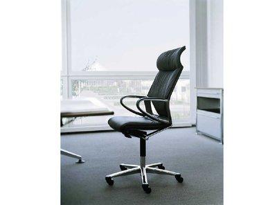 Кресло руководителя Modus Executive кожа черное фабрики Wilkhahn