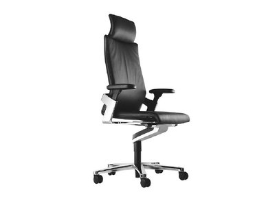 Кресло руководителя ON черная кожа фабрики Wilkhahn