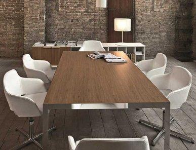 Дизайнерский стол Frame Cotto хром/жженый дуб 200 см фабрики Sinetica