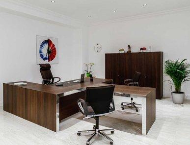 Стол для руководителя Vogue Cotto Жженый дуб фабрики Sinetica