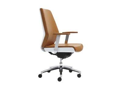 Кресло Coupe со средней спинкой коричневый/белый фабрики Sunon