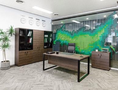Офисный шкаф Rola (Табак) комбинированный фабрики Modern Design