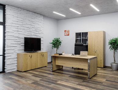 Офисный шкаф Exe четырехдверный (Дуб Флоре) фабрики Modern Design