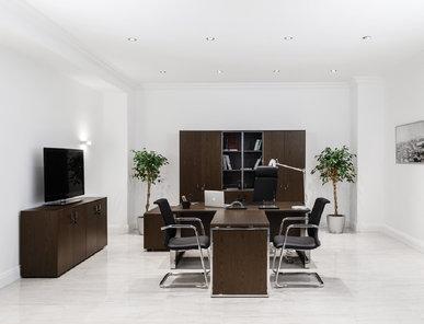Офисный шкаф Exe четырехдверный (Орех Мароне) фабрики Modern Design
