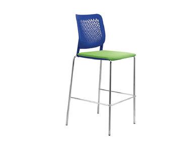 Высокий стул WAIT для переговоров на стальной базе фабрики Narbutas