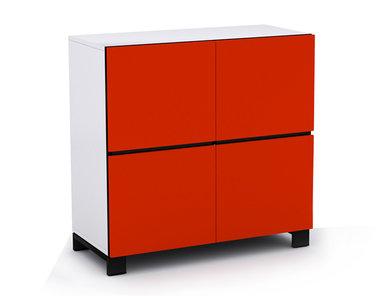 Офисный шкаф JAZZ красный (двухъярусный) на ножках фабрики Narbutas