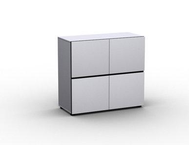 Офисный шкаф JAZZ белый (двухъярусный) фабрики Narbutas