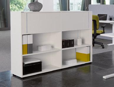 Офисный шкаф NOVA LINE (со вставками из оргстекла) фабрики Narbutas