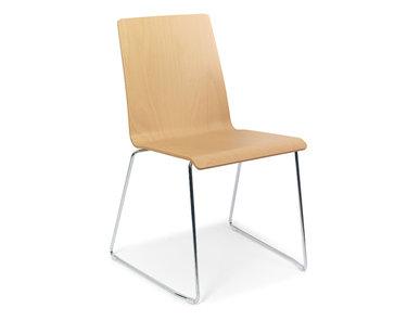 Деревянный стул для переговоров MOON со стальной рамой фабрики Narbutas