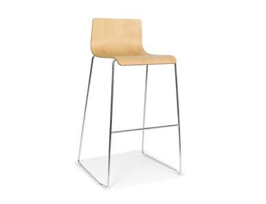 Высокий стул MOON со стальной рамой фабрики Narbutas