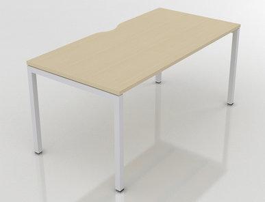 Офисный стол Nova U Slide (для одного сотрудника) фабрики Narbutas