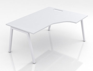 Компьютерный стол Nova A с выемкой (для одного сотрудника) фабрики Narbutas