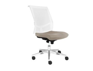 Рабочее кресло EVA.II (белая рама, алюминиевая база на колесиках) фабрики Narbutas