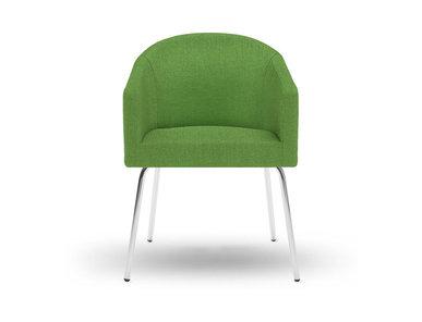 Кресло LUNA на базе из 4 ножек зеленое фабрики Narbutas