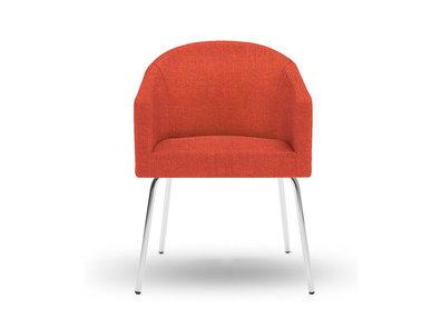 Кресло LUNA на базе из 4 ножек красное фабрики Narbutas
