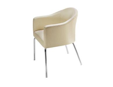 Кресло LUNA на базе из 4 ножек беж фабрики Narbutas