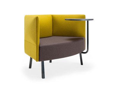 Кресло Cumulus со столиком (металл. опоры и стол черного цвета) фабрики CUMULUS
