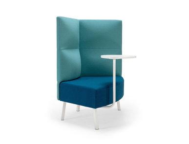 Silent box Cumulus со столиком (металл. опоры и стол белого цвета) фабрики CUMULUS