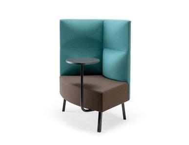 Silent box Cumulus со столиком (металл. опоры и стол черного цвета) фабрики CUMULUS