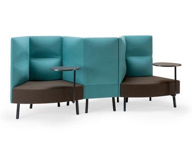 Silent box Cumulus 3 секции со столиками (металл. опоры и столы) фабрики CUMULUS