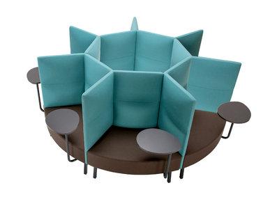 Silent box Cumulus 7 секций со столиками (металл. опоры и столы) фабрики CUMULUS
