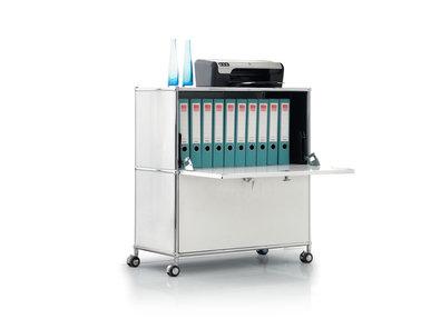Система хранения (2 ящика ) на роликах белая вертик. фабрики SmartModule