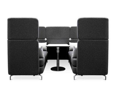 Акустическая мягкая мебель W-LOUNGE WORKSTATION фабрики WAGNER