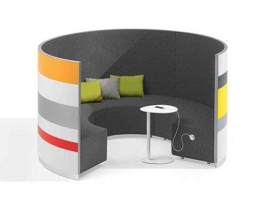 Акустическая мягкая мебель TWIST фабрики NEWTOM BY ULTOM
