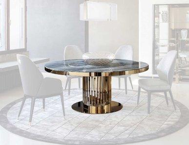 Итальянский круглый стол с мраморной столешницей CHARISMA фабрики GIORGIO COLLECTION