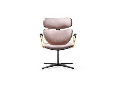 Итальянское кресло Asia Swivel фабрики BLACK TIE