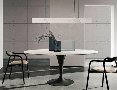Итальянский стол FLÛTE ELLIPTICAL фабрики SOVET
