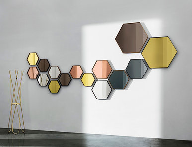 Итальянское зеркало VISUAL HEXAGONAL фабрики SOVET