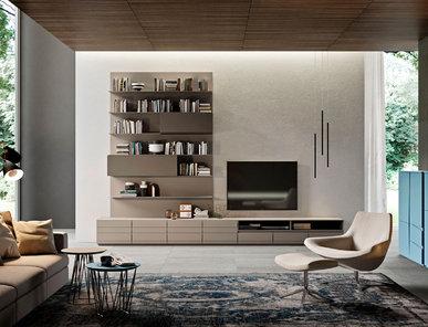 Итальянская мебель для TV HI-FI Stripe фабрики EMMEBI