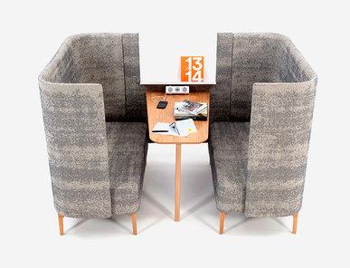 Акустическая мягкая мебель Pullman Booth PULB2H фабрики NAUGHTONE