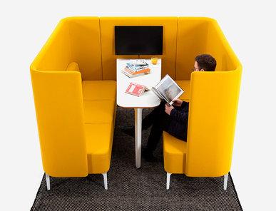 Акустическая мягкая мебель Pullman Booth PULB3H фабрики NAUGHTONE
